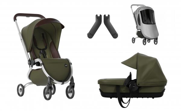 Mima Zigi Buggy + Gratis Babywanne + Adapter + Regenschutz