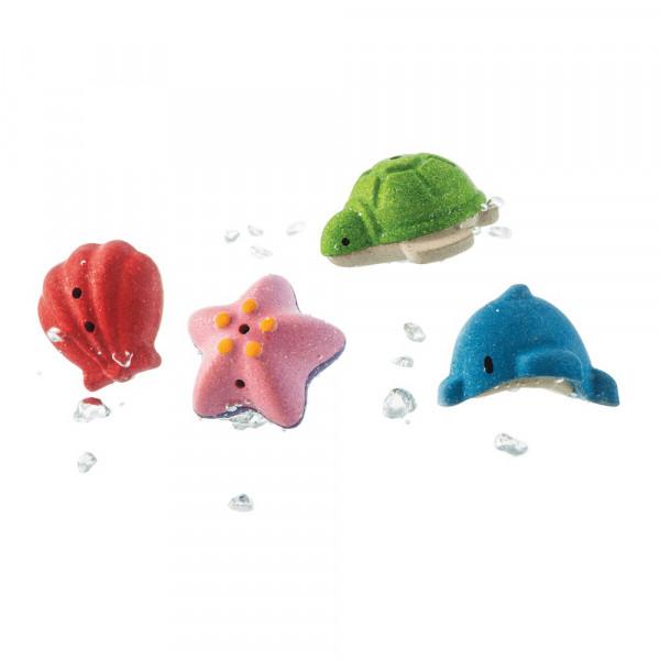 PlanToys Badewannenspielzeug aus Holz Sea Life