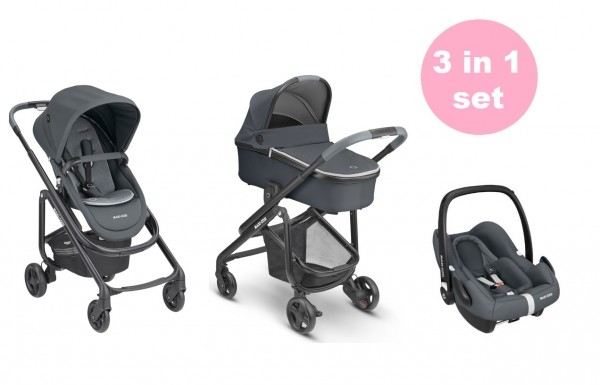 Maxi Cosi Lila SP Kinderwagen Set 3 in 1 (Oria Babywanne & Rock Babyschale)