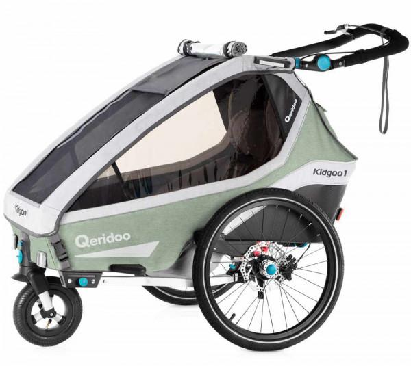 Qeridoo Kidgoo1 Pro Fahrradanhänger inkl. Joggerrad