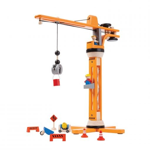 PlanToys Spielzeug Kran-Set aus Holz
