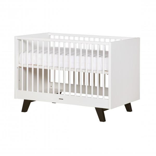 Kidsmill Fynn Weiß Schwarz Umbaubett 70x140