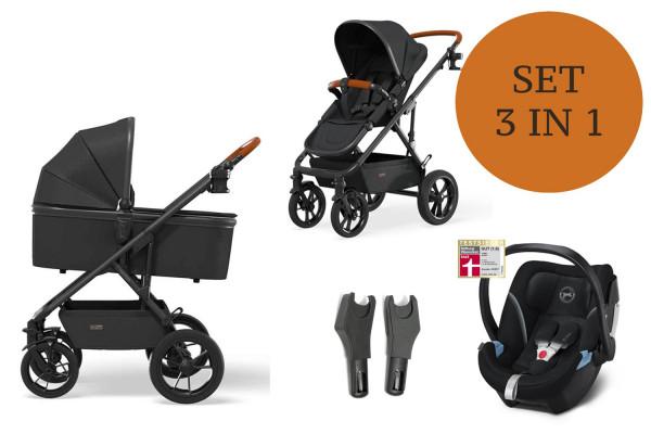 Moon Nuova Kinderwagen Set 3 in 1 inkl. Babyschale Modell 2021