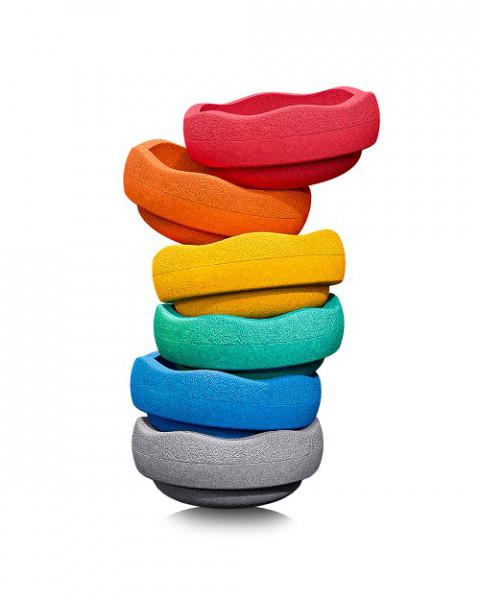 Stapelstein Rainbow Basic 6 Stk. GREY EDITION