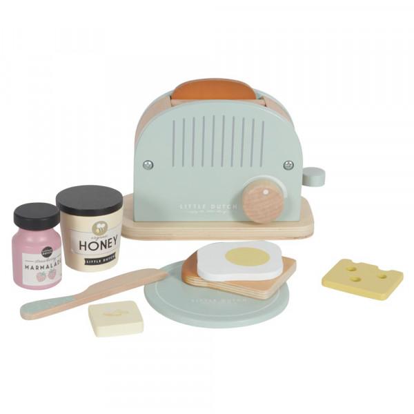 Little Dutch Holz Brot Toaster 10-Teilig