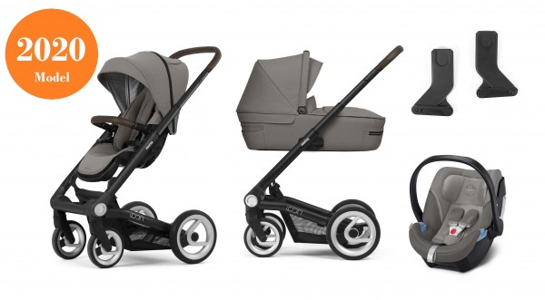 Mutsy Icon Kinderwagen Set 3 in 1 2020 (mit Brown Griff)