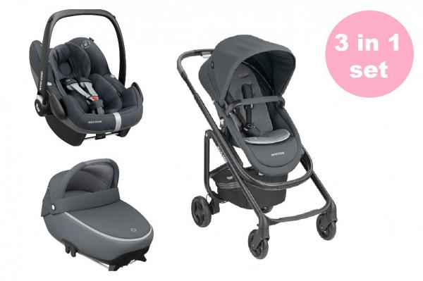 Maxi Cosi Lila SP Kinderwagen Premium Set 3 in 1 (Jade Babywanne & Pebble Pro Babyschale)