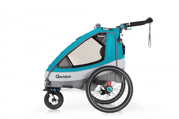 Qeridoo Sportrex2 Fahrradanhänger Petrol