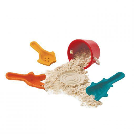 PlanToys Sandspielzeug-Set aus Holz