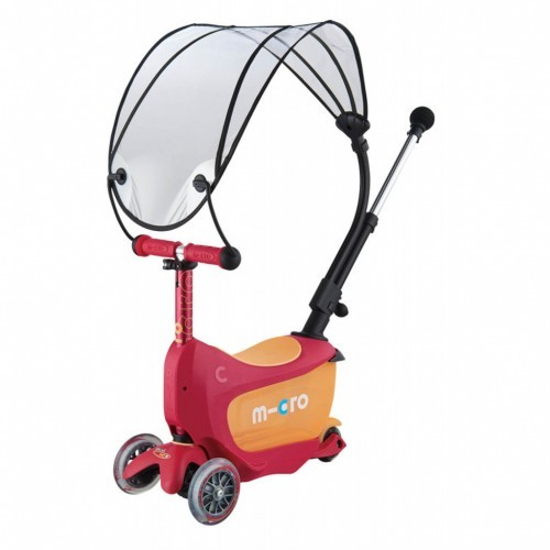 Mini2go Deluxe Plus Canopy Ruby Red