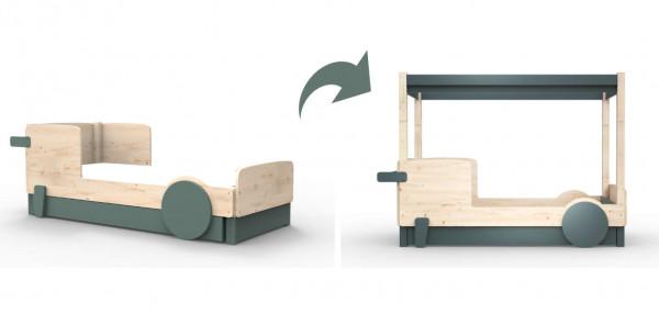 Mathy by Bols Discovery Umbauset von Einzelbett zu Himmelbett