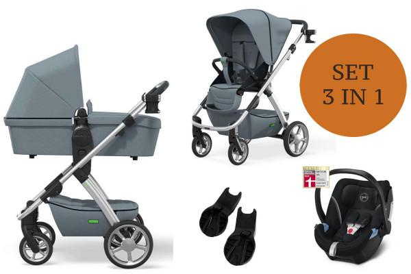 Moon Number One Kinderwagen Set 3 in 1 inkl. Babyschale Modell 2021
