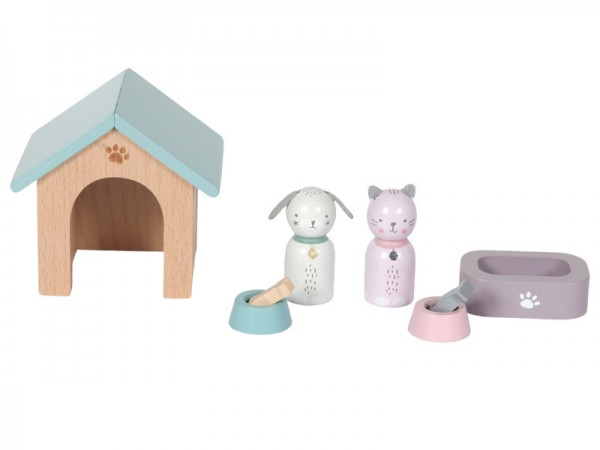 Little Dutch Erweiterungsset Puppenhaus - Haustiere 8-teilig