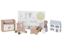 Little Dutch Erweiterungsset Puppenhaus - Babyzimmer 11-teilig