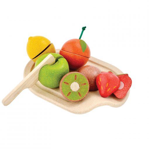 PlanToys Spielzeuglebensmittel-Sets aus Holz zum Schneiden