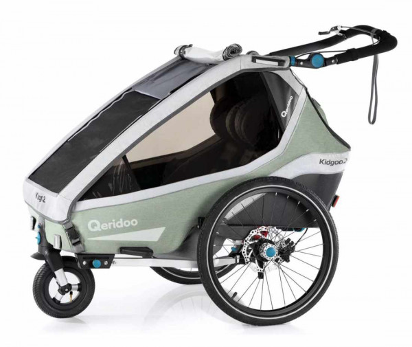Qeridoo Kidgoo2 Pro Fahrradanhänger inkl. Joggerrad