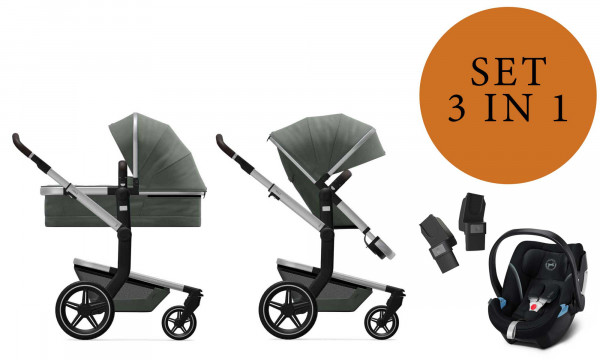 Joolz Day+ Kinderwagen Set 3 in 1 inkl. Cybex Aton 5 Babyschale