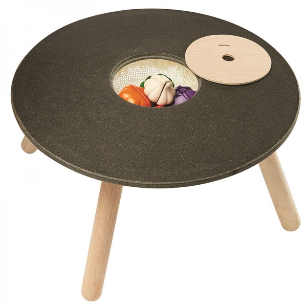 PlanToys runder Kindertisch aus Holz