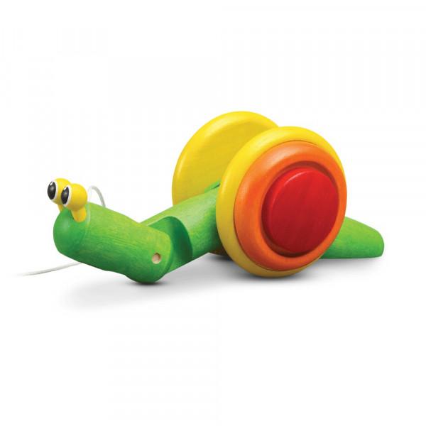 PlanToys Holzspielzeug Pull-Along Schnecke