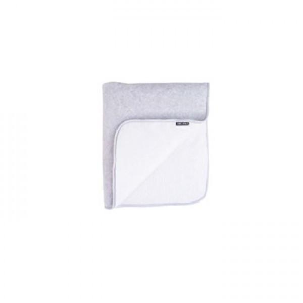 Koelstra Polar Fleece-Decke Weiss-Grau