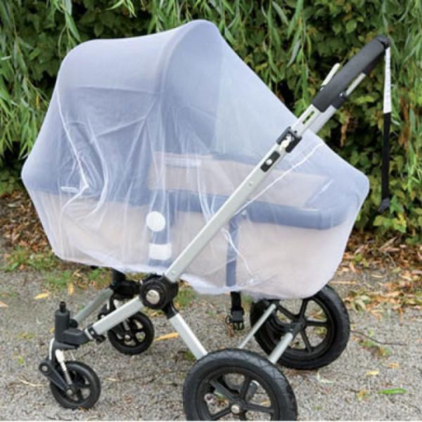 Alvi Mückennetz für Kinderwagen Super Weiß