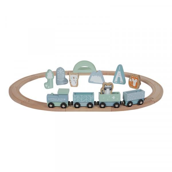 Little Dutch Holz Eisenbahn mit Schienen