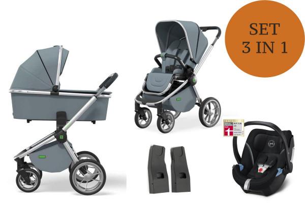 Moon ReSea S Kinderwagen Set 3 in 1 inkl. Babyschale Modell 2021