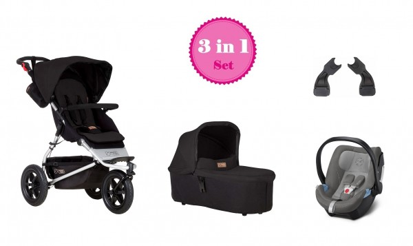 Mountain Buggy Urban Jungle 3 Kinderwagen Set 3 in 1