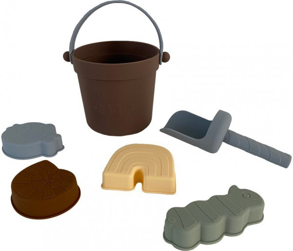OYOY Sandspielzeug-Set Leo aus weichem Silikon