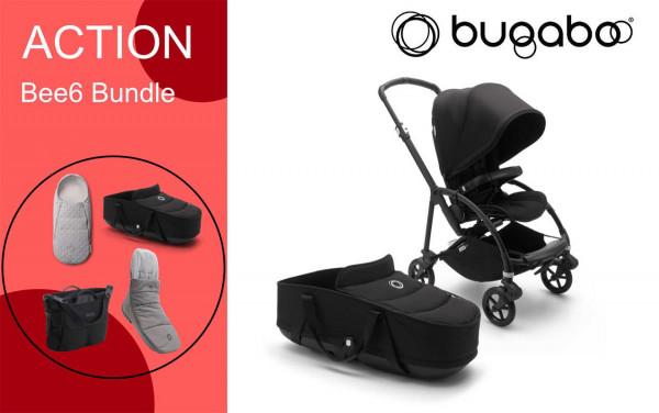 Bugaboo Bee6 Kinderwagen inkl. Babywanne + Bundle Zubehör